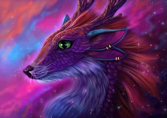 Розовый дракон