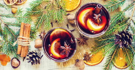 Mulled wine. Selective focus.