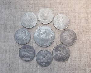 Vintage Russian collectible coins.