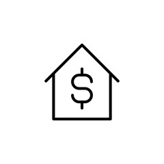 Modern real estate line icon.