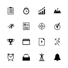 Planing Organization icons - Expand to any size - Change to any colour. Flat Vector Icons - Black Illustration on White Background.