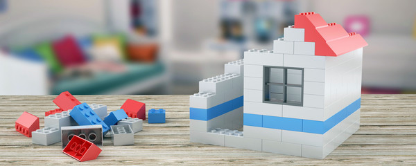 Plastic building blocks Home