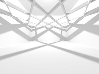 White Architecture Construction Modern Interior Background