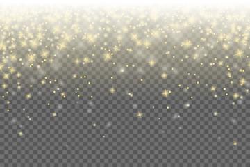 Sterne Hintergrund weiß gold Konfetti Regen