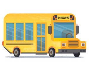 Yellow school bus for pupils.