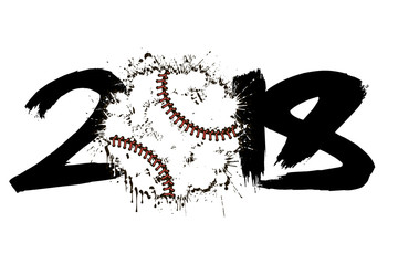 Abstract number 2018 and baseball