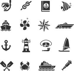 set of icons sea