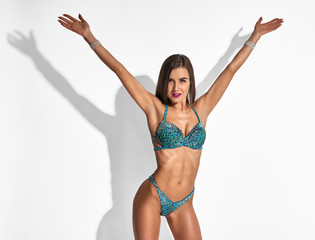 Woman showing body