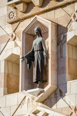 Sculpture of Virgin Mary in Basilica of the Annunciation in Nazareth