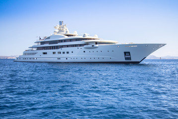 Luxury yacht in the sea