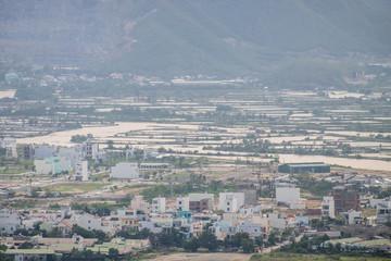 Aerial view of skyline Nha Trang city, Vietnam