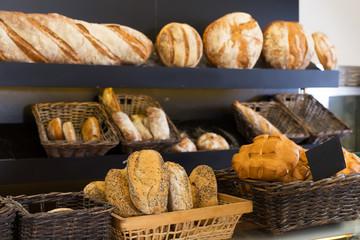 Fresh bread on counter