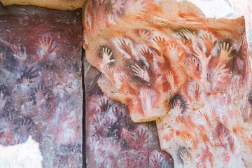 Cave paintings in Cueva de las Manos