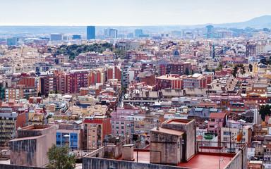 Top view of picturesque metropolitan