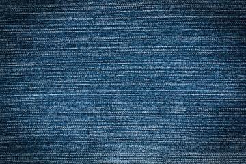 Empty Jean Cloth Blue Color With Vignette Close Up.