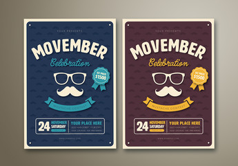 Movember Celebration Flyer in Two Color Palettes
