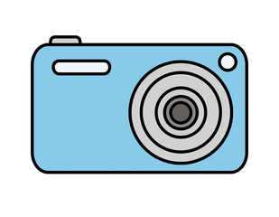 デジタルカメラ(青)