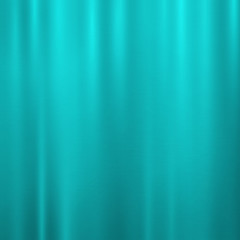 Vector foil turquoise blue, teal metallic texture with shiny rippled scratched surface, polished imitation background. Brushed steel, aluminum or chrome glowing illustration for posters, ads, banners.