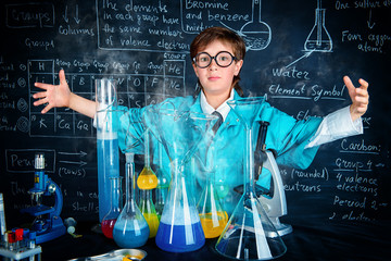 scientist making experiments