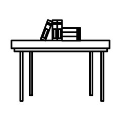Books on desk icon vector illustration graphic design