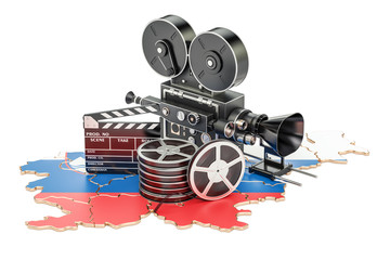 Slovenian cinematography, film industry concept. 3D rendering