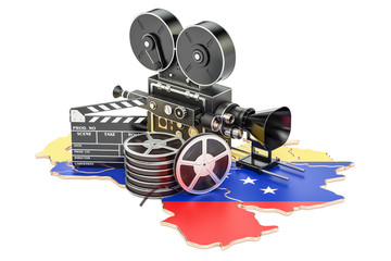 Venezuela cinematography, film industry concept. 3D rendering