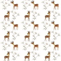 watercolor deer pattern