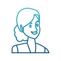 Business woman cartoon icon vector illustration graphic design