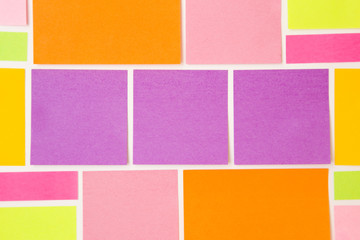 Modern Background of Bright Colored Sticky Notes