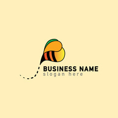 bee tail fly logo vector