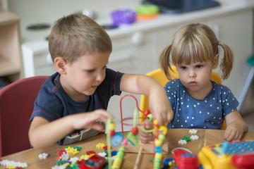Joy of friendship in kindergarten