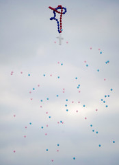 Balloons are released during a funeral for victims of the Sutherland Springs Baptist church shooting