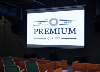 Design space on theatre screen