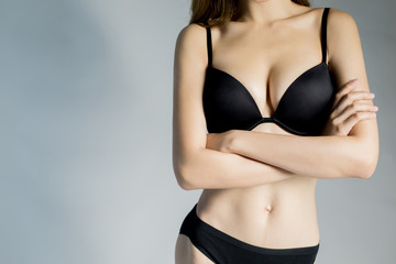 close up woman body