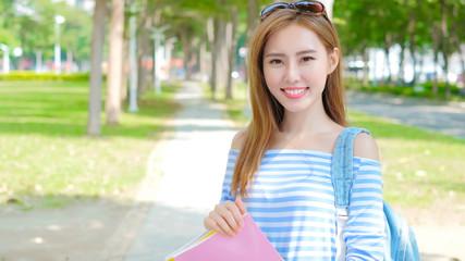 beauty woman student