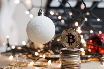 Christmas Bitcoin Coin