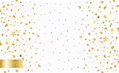 golden stars on a white background