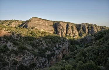 Montagne aragonaise à Alquézar, Aragon, Espagne