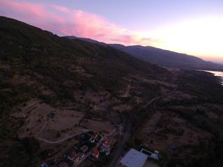 Baños de Montemayor, pueblo de Caceres ( Extremadura, España) Fotografia aerea con drone