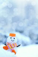 雪だるま 雪景色