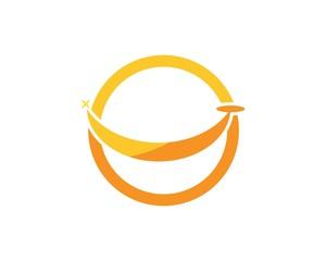 Smile icon logo design template