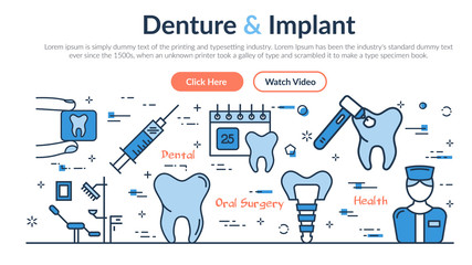 Web site header - Denture and Implant