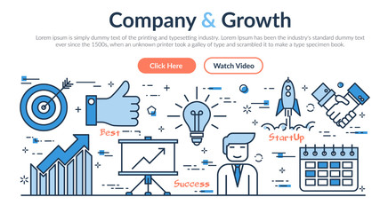 Web site header - Company and Growth