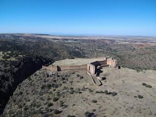 Drone sobre el Castillo de Montalban en Toledo (Castilla La mancha, España) Fotografia aerea