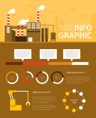 Industrial Revolution Flat Design Info graphic