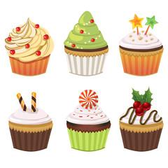 christmas cupcake set
