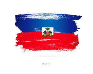 Flag of Haiti. Abstract concept