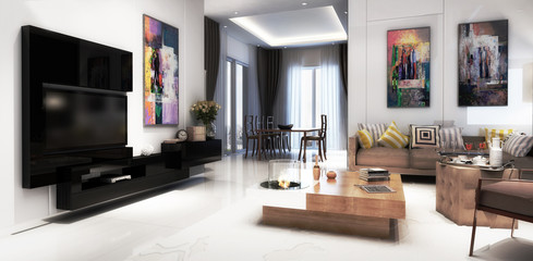 Modern furnishing concept (panoramic)