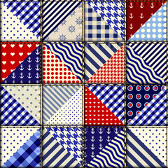 Seamless background pattern. Patchwork pattern of triangles.