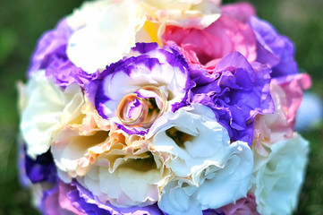 Wedding bouquet on elegant background